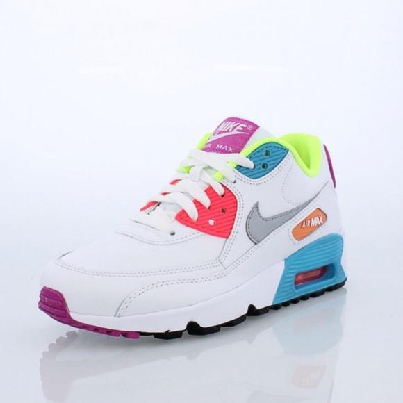7d692209d29af Nike Air Max 90 SE Leather Big Kids  Shoe
